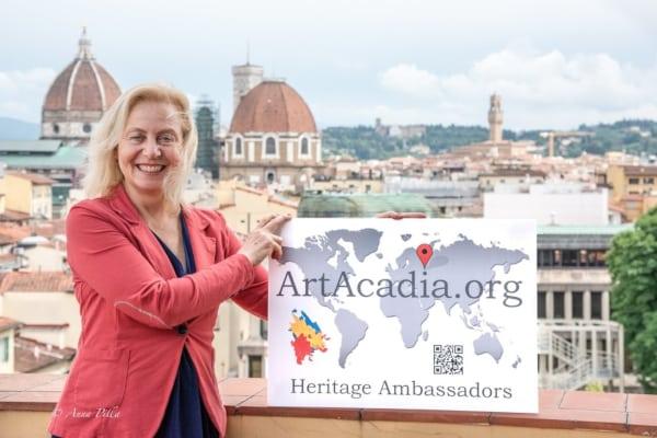 Carolina Reviglio in Florence, Italy